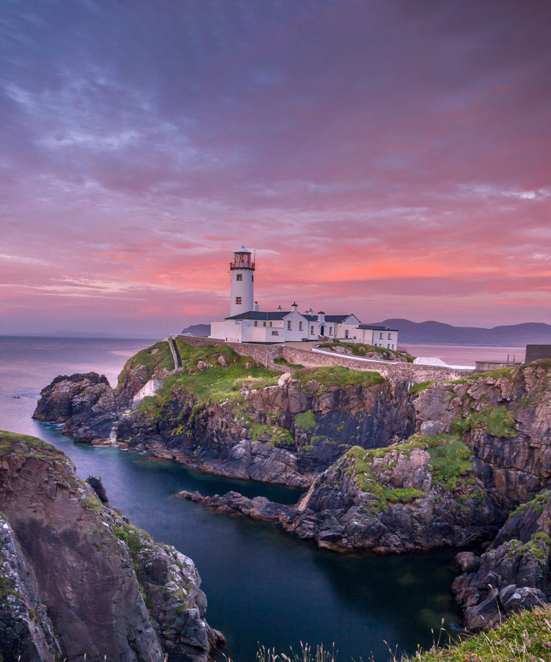 Fanad head near Donegal, Ireland with lighthouse