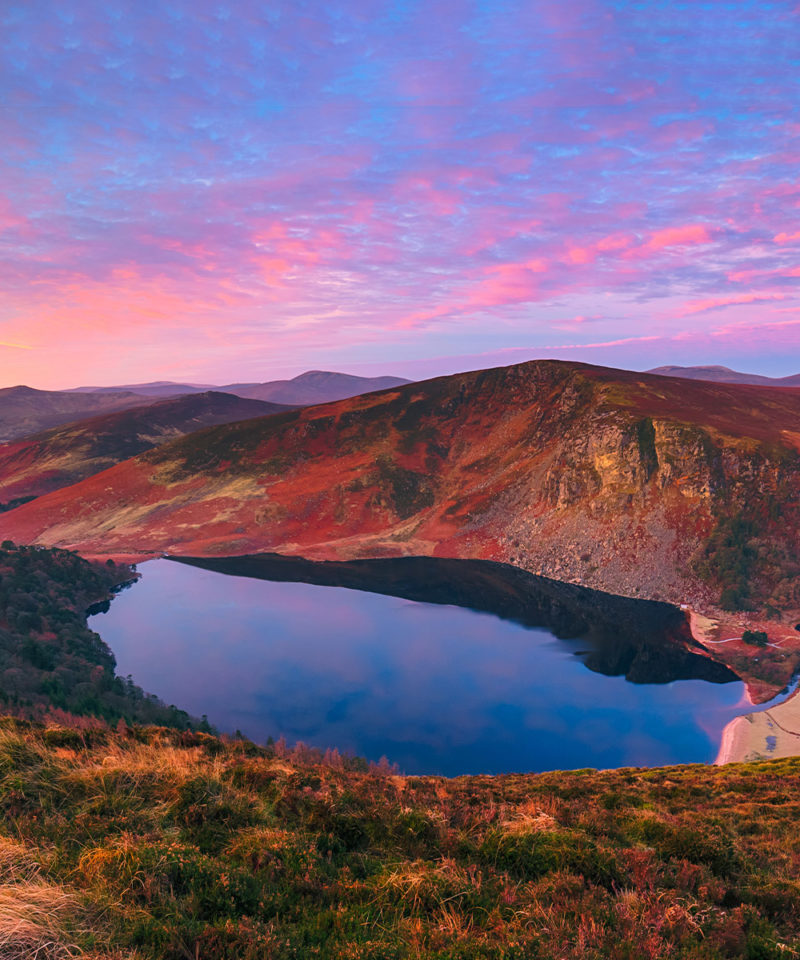 Wicklow Mountains at Sunset, Ireland