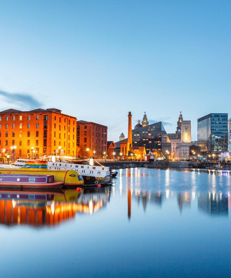 The Albert Docks at Dusk, Liverpool