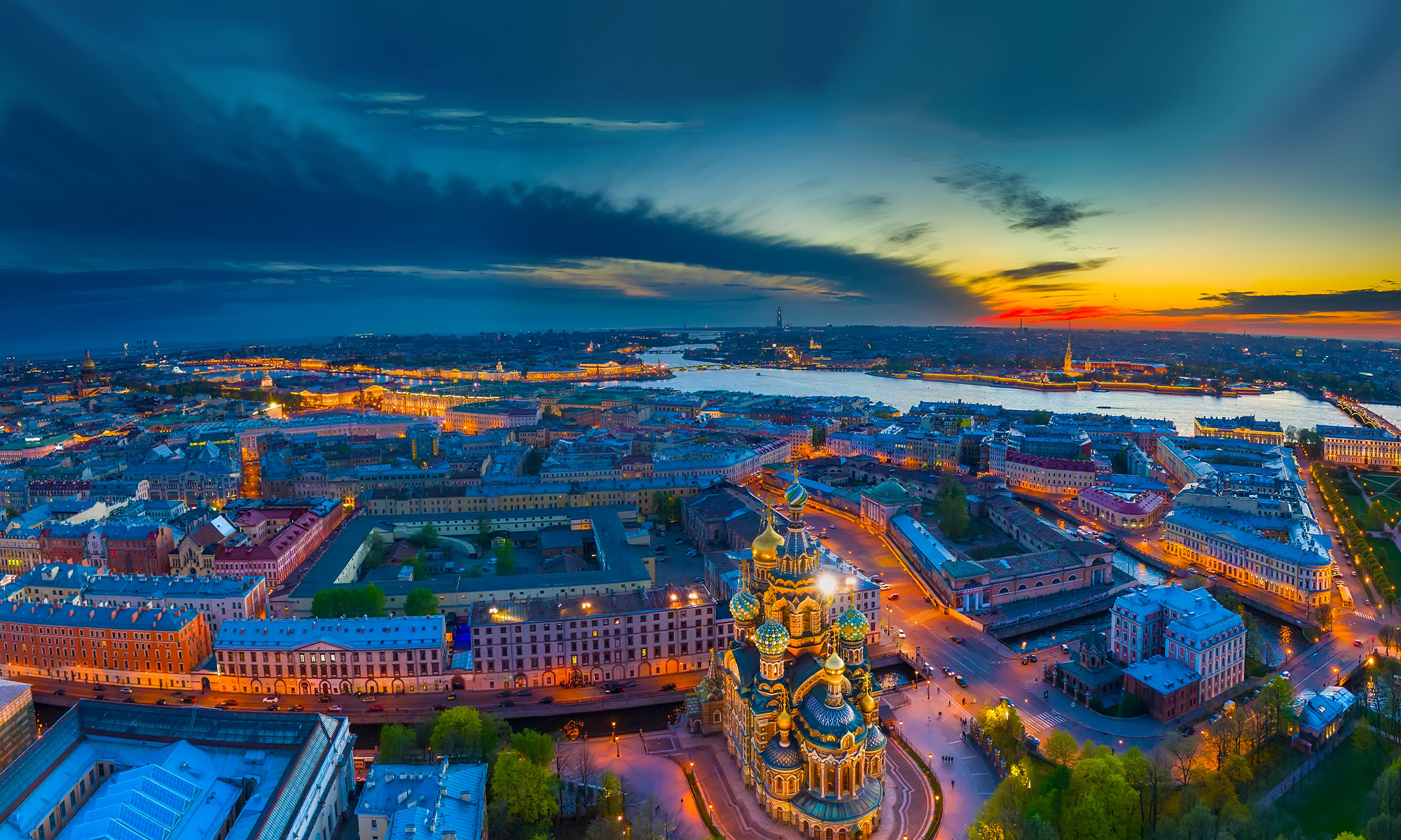 St Petersburg at Dusk, Russia