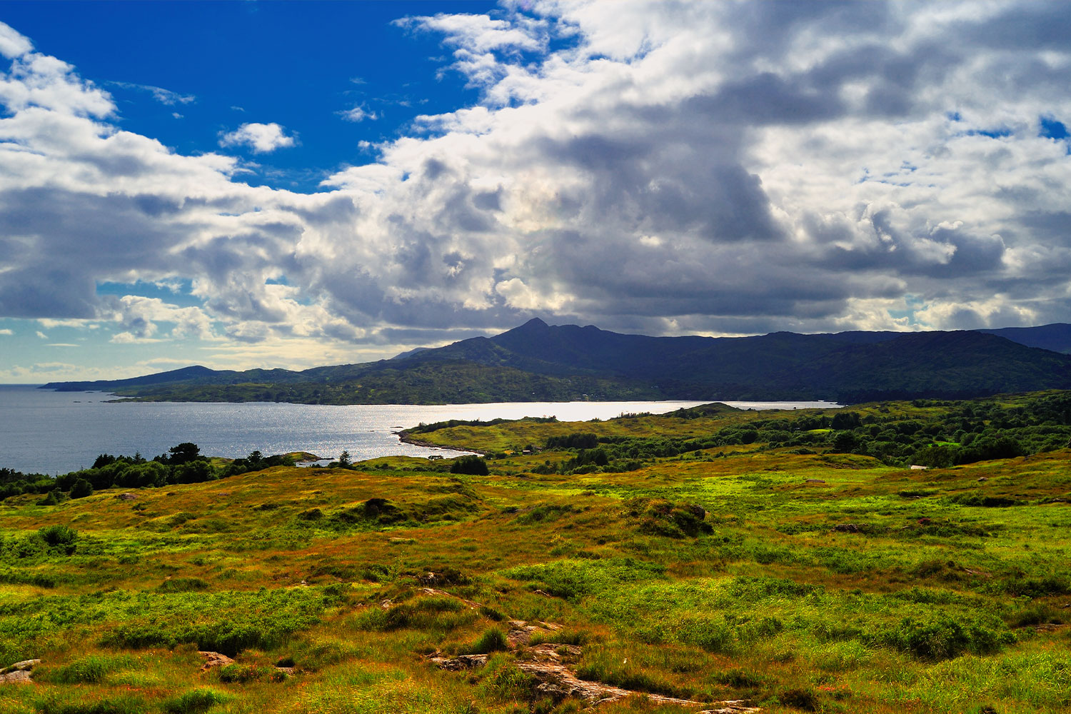 Swirling Clouds over Bantry bay, Ireland