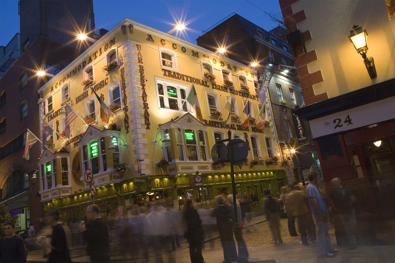 Irish Night Street Scene, Ireland