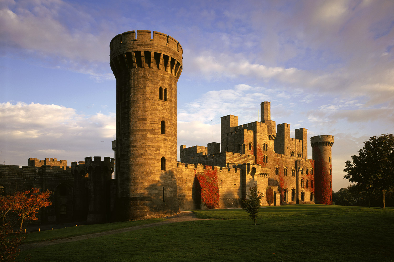 Penrhyn Castle and Gardens in Autumn Sunset, North Wales