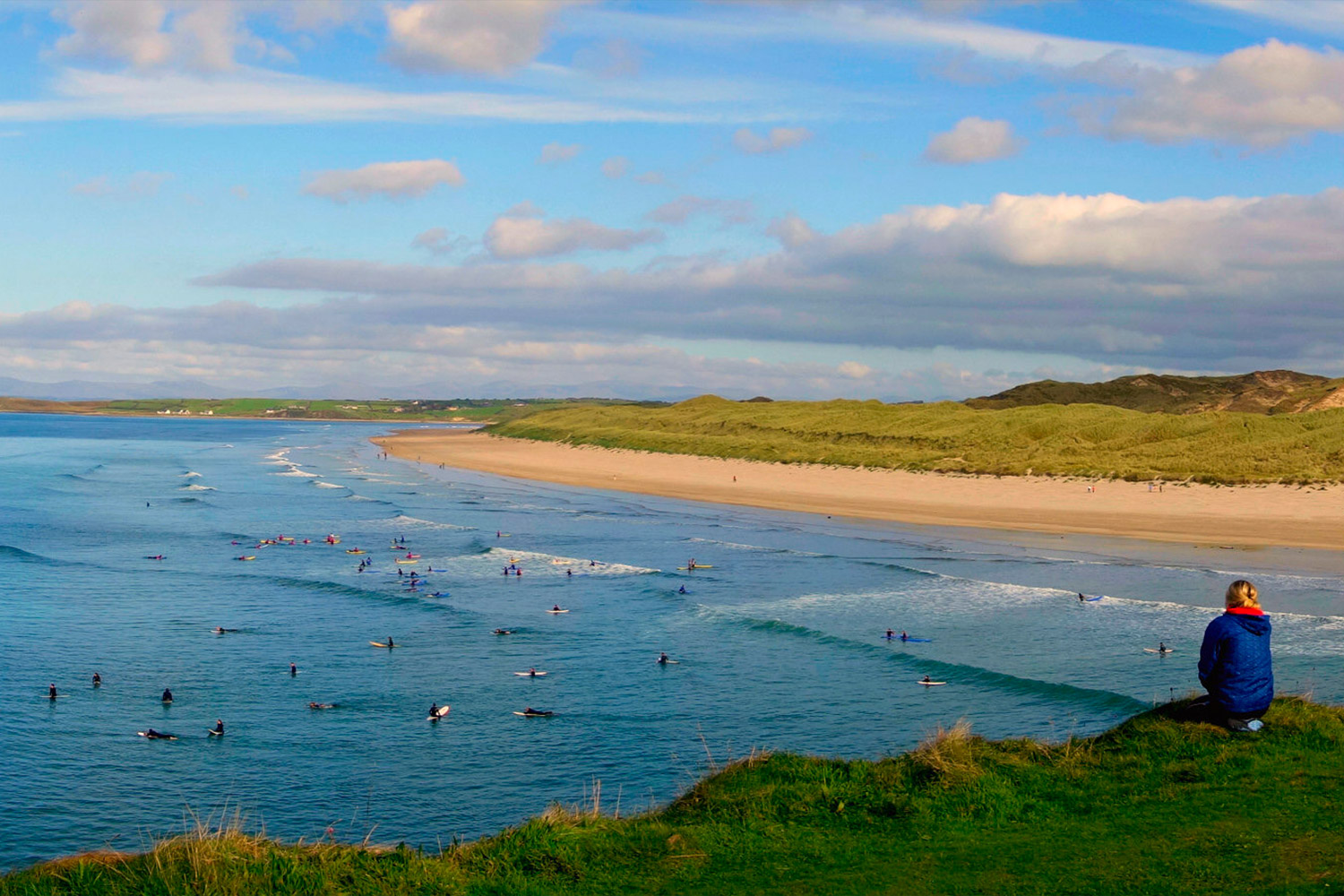 Surfers at Dinegal Beach, Ireland