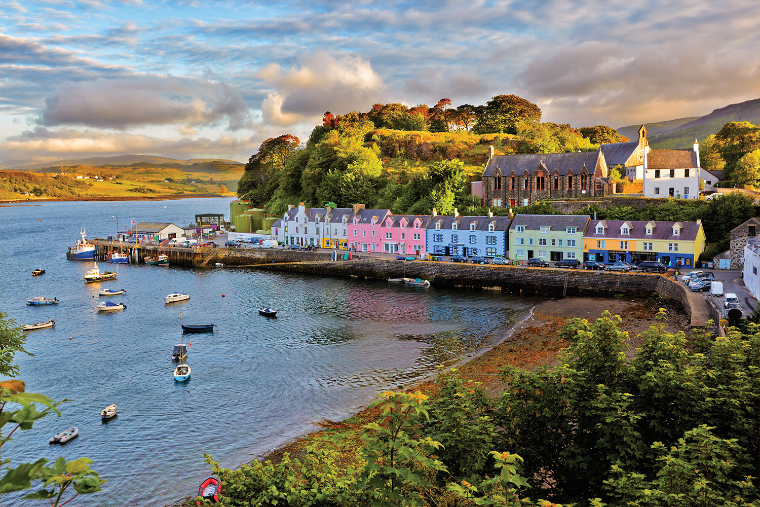 The Bay at Portree on the Isle of Skye, Scotland