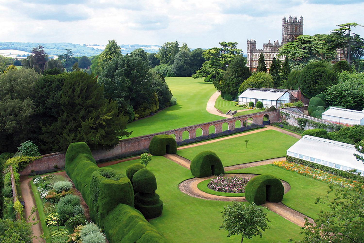 Monks Garden, Highclere Castle also known as Downton Abbey
