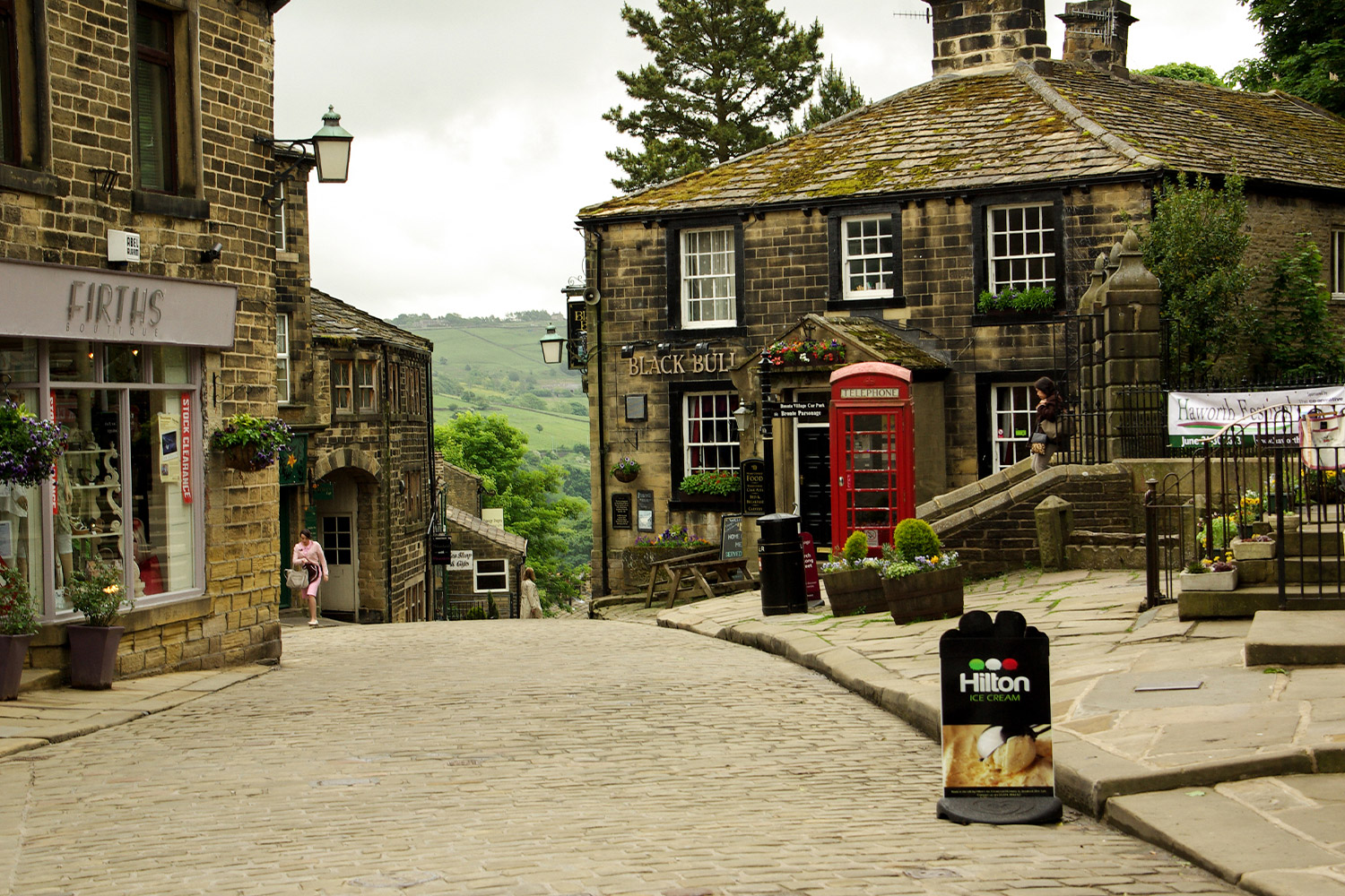 Narrow Street in Haworth