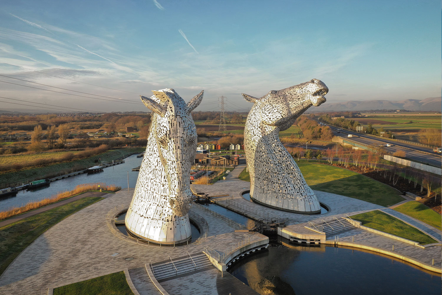 The Kelpies by the Forth and Clyde Canal, Scotland