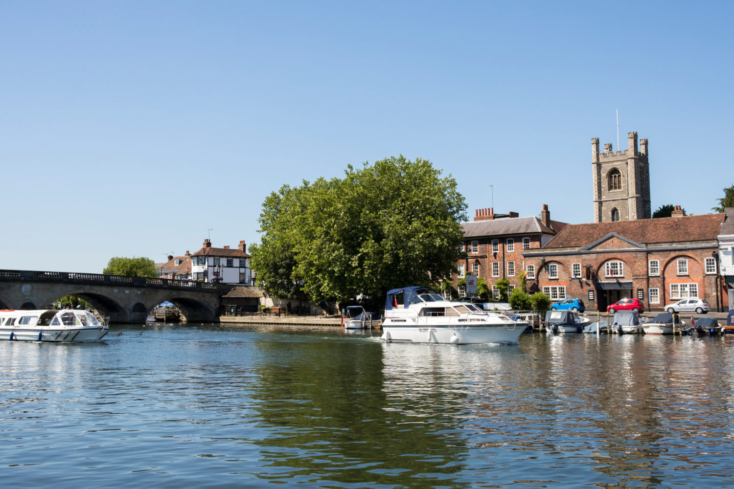Skyline Of Henley On Thames In Oxfordshire